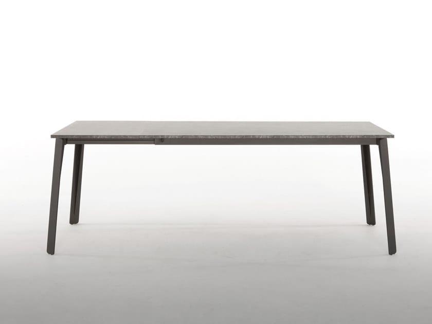 Extending rectangular table ALMA by Tonin Casa