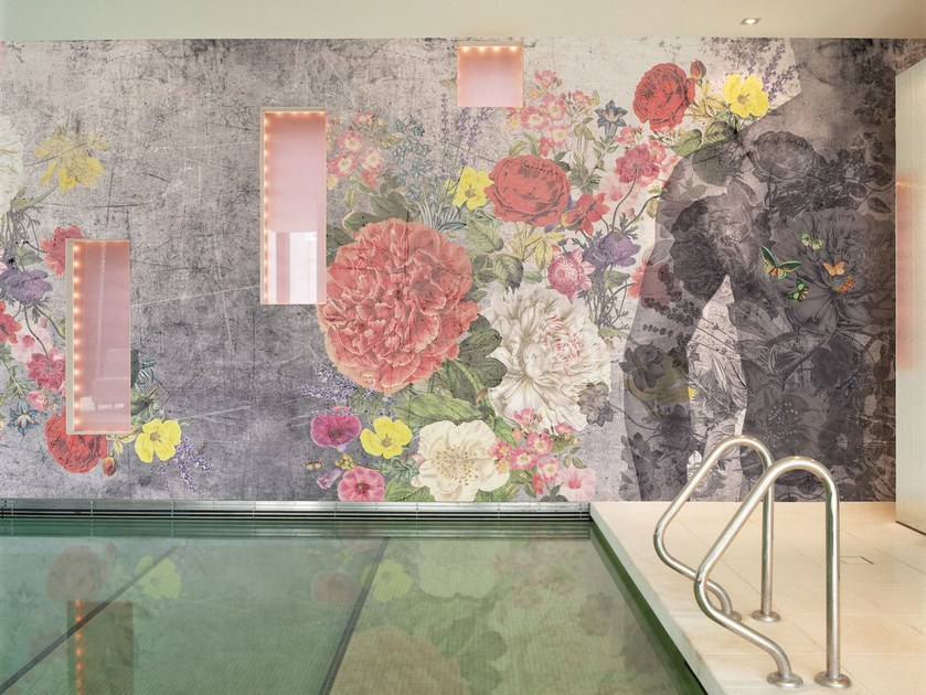 Wallpaper with floral pattern ALOHA by Wall&decò