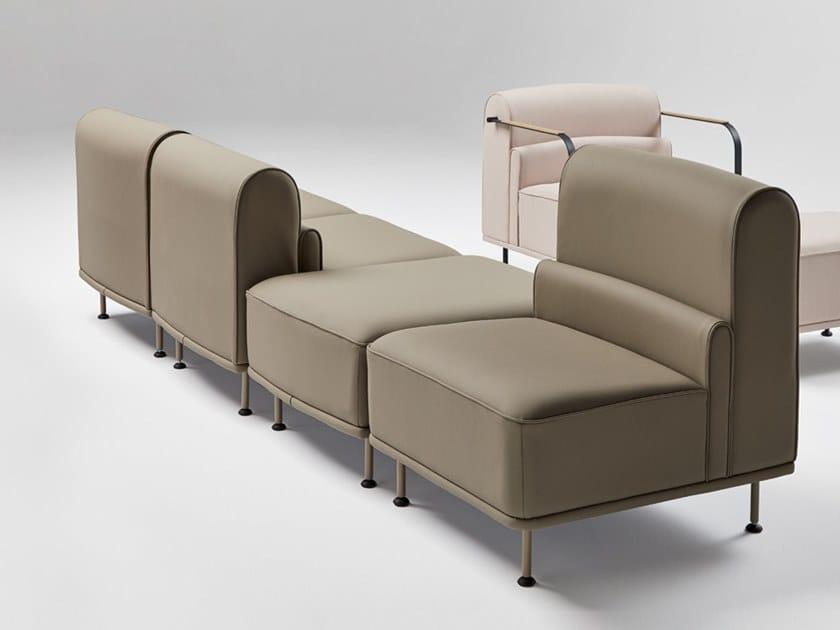 Sectional fabric armchair ALPE | Armchair by Mobboli