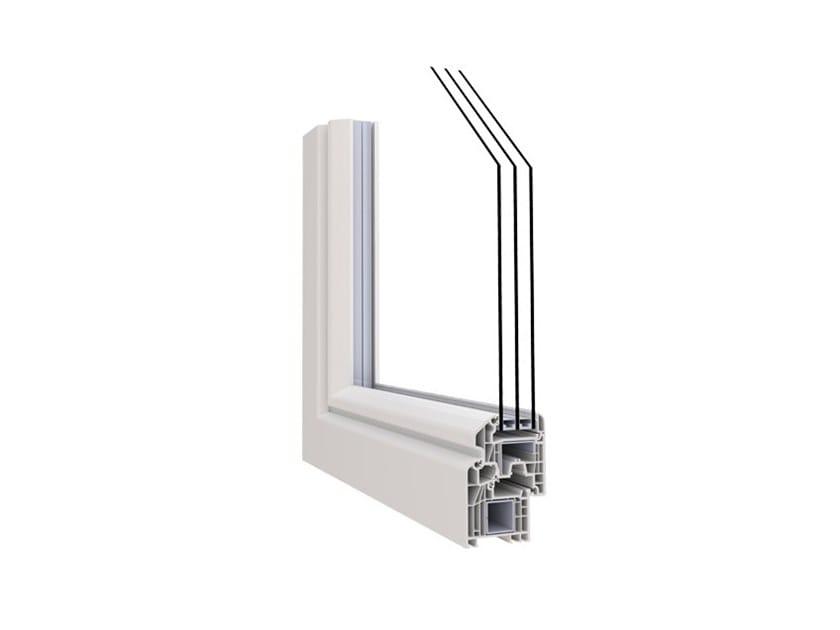 Aluminium and PVC triple glazed window ALPHA 70 PRESTIGIO by Punto Gold