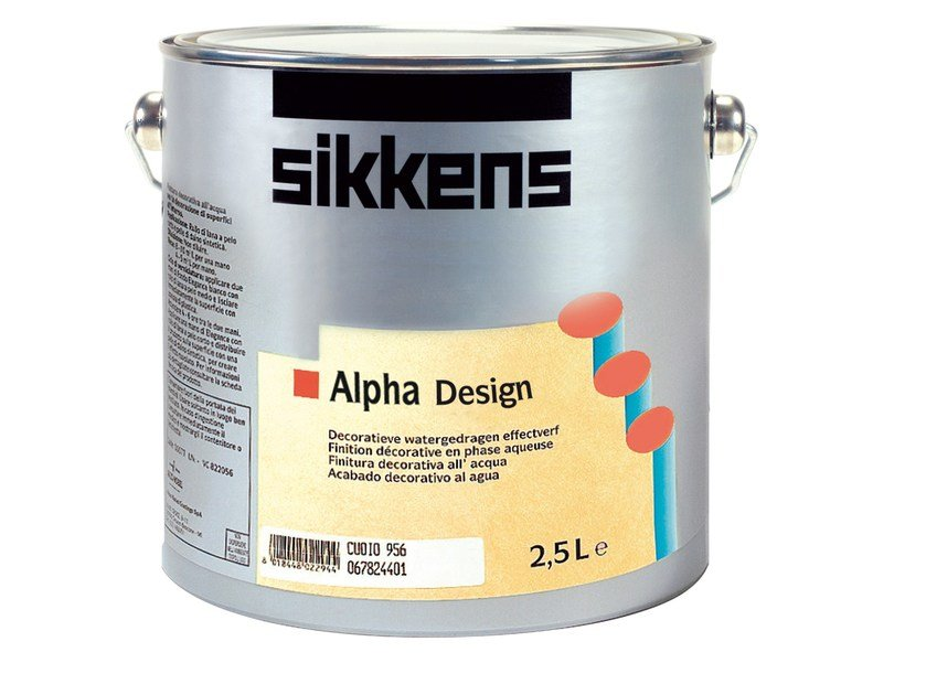 Water-based decorative painting finish with metallic effect ALPHA DESIGN by Sikkens