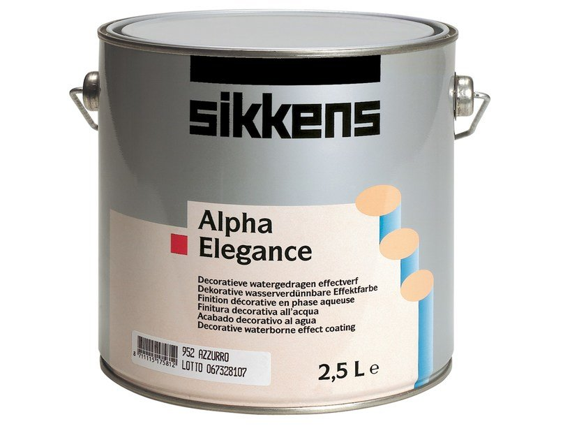 Water-based decorative painting finish ALPHA ELEGANCE by Sikkens