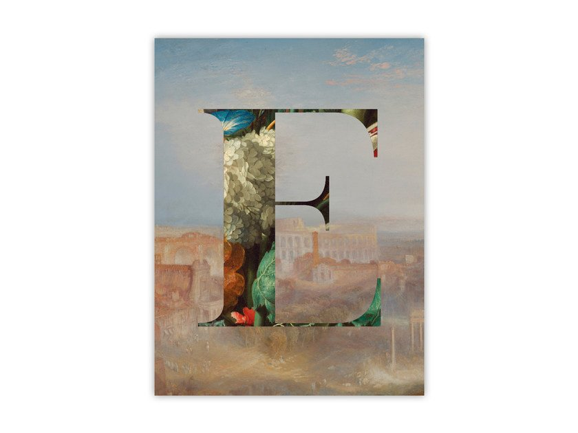 Print on paper ALPHABET E by Funky Milk