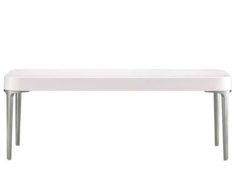 Low rectangular polyurethane coffee table ALPHATABLES T0867 by Segis