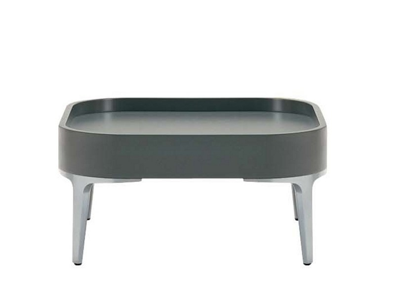 Low square polyurethane coffee table ALPHATABLES T0869 by Segis