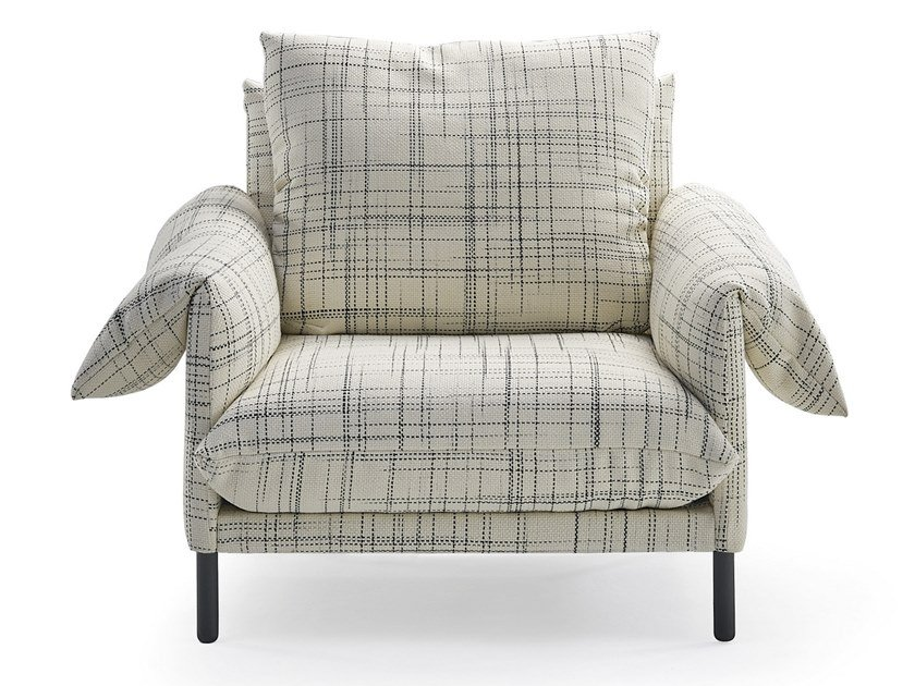 Fabric armchair with armrests ALPINO | Armchair by Sancal