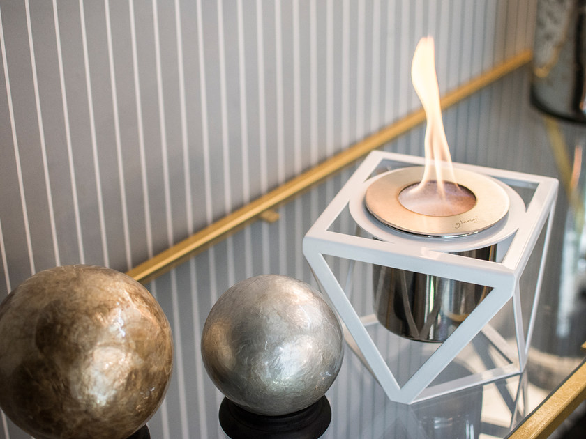 Table-top bioethanol steel fireplace ALQUIMIA TABLETOP by GlammFire