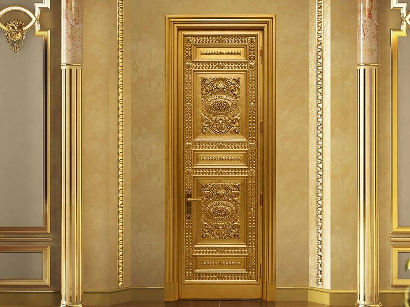 Hinged gold leaf door ALTAIR by Arnaboldi Interiors