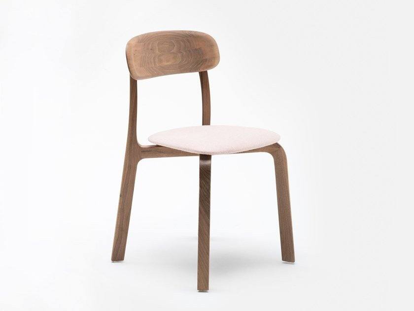 Solid wood chair with integrated cushion ALTER | Upholstered chair by MS&WOOD
