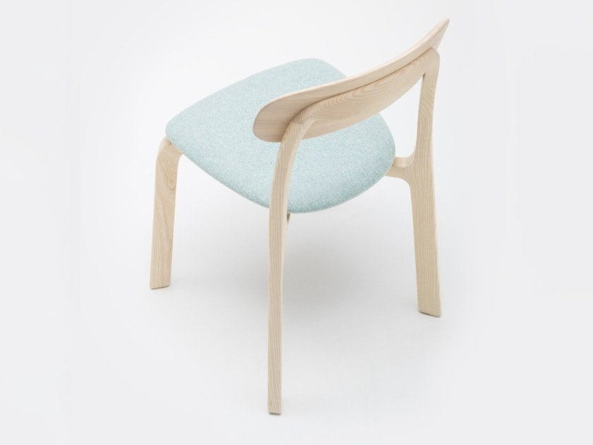 Solid wood chair with integrated cushion ALTER by MS&WOOD