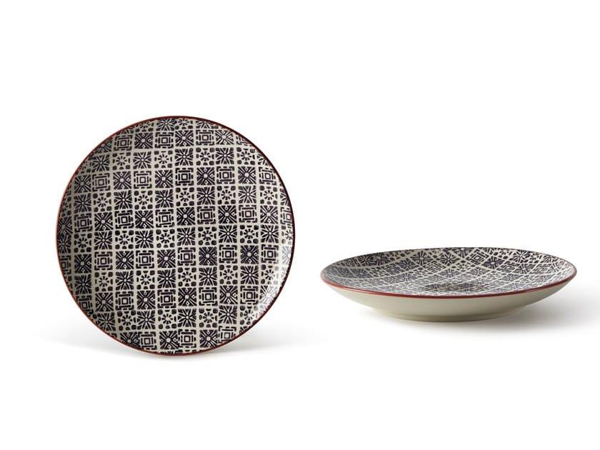 Porcelain stoneware dessert plate ALTHEA AFRICA   Dessert plate by Fill
