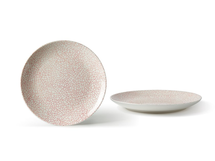 Porcelain stoneware dinner plate ALTHEA CRACKLE   Dinner plate by Fill