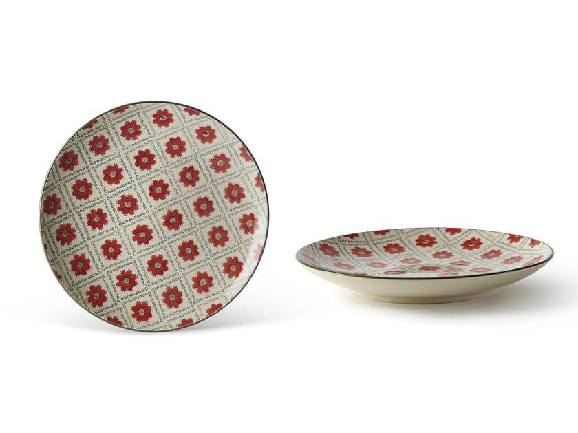 Porcelain stoneware dessert plate ALTHEA FIORE 2   Dessert plate by Fill