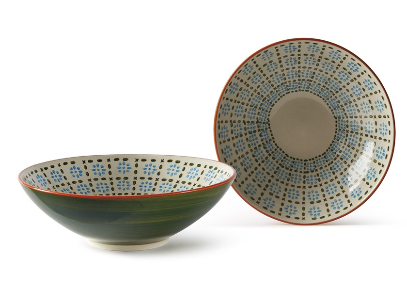 Porcelain stoneware serving bowl ALTHEA FIORE 3 | Serving bowl by Fill