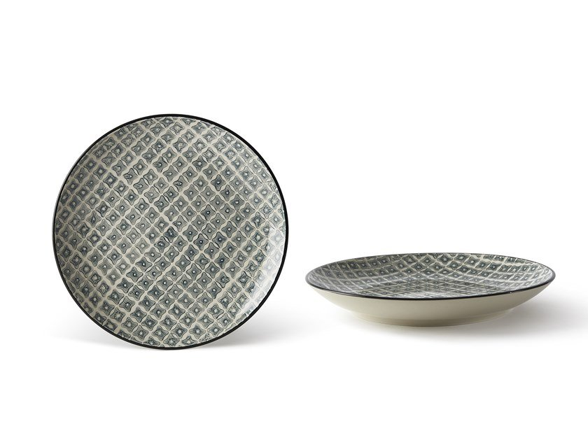 Porcelain stoneware dinner plate ALTHEA FIORE 4   Dinner plate by Fill