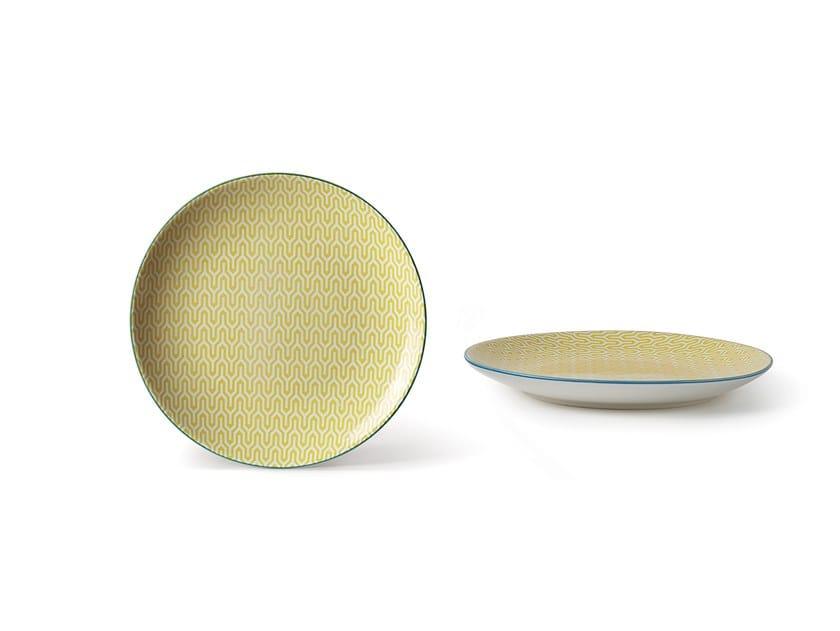 Porcelain stoneware dessert plate ALTHEA LABIRINTO 2   Dessert plate by Fill