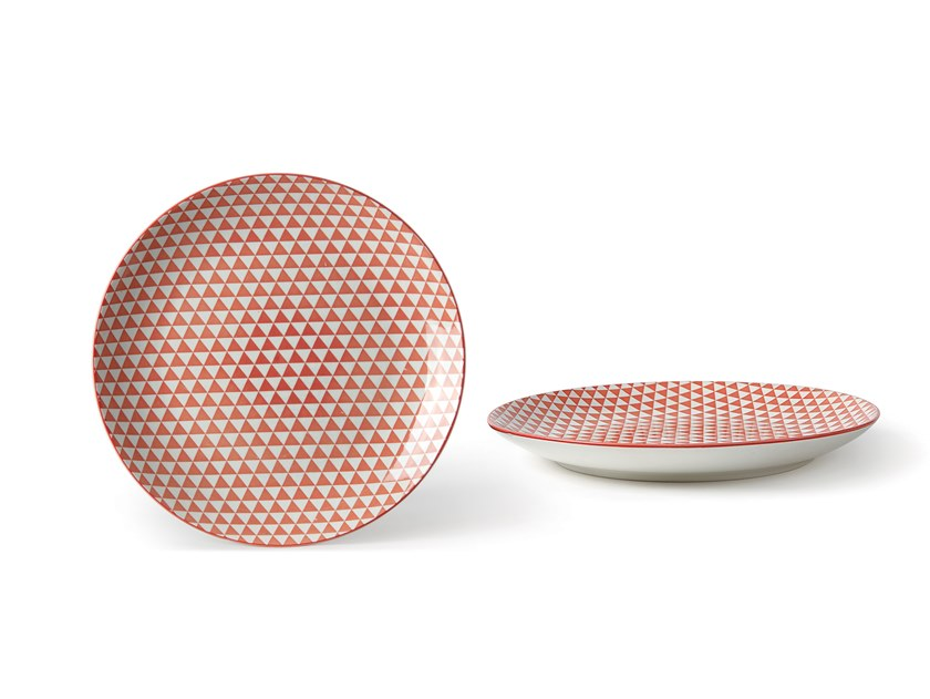 Porcelain stoneware dinner plate ALTHEA TRIANGOLO | Dinner plate by Fill
