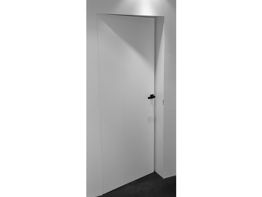 Hinged flush-fitting wooden door ALU3 P by A2B Doors