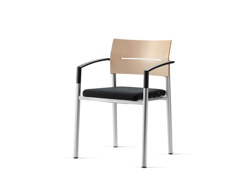 Chair with armrests ALUFORM_3 | Training chair with armrests by Wiesner-Hager