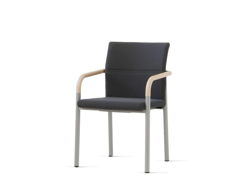 Upholstered fabric chair with armrests ALUFORM_3 | Chair with armrests by Wiesner-Hager