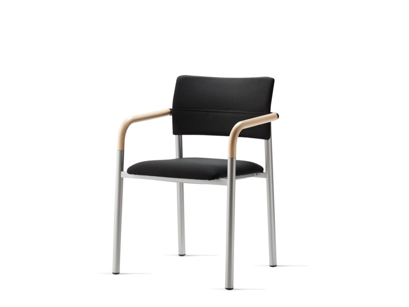 Stackable fabric training chair with armrests ALUFORM_3 | Training chair by Wiesner-Hager