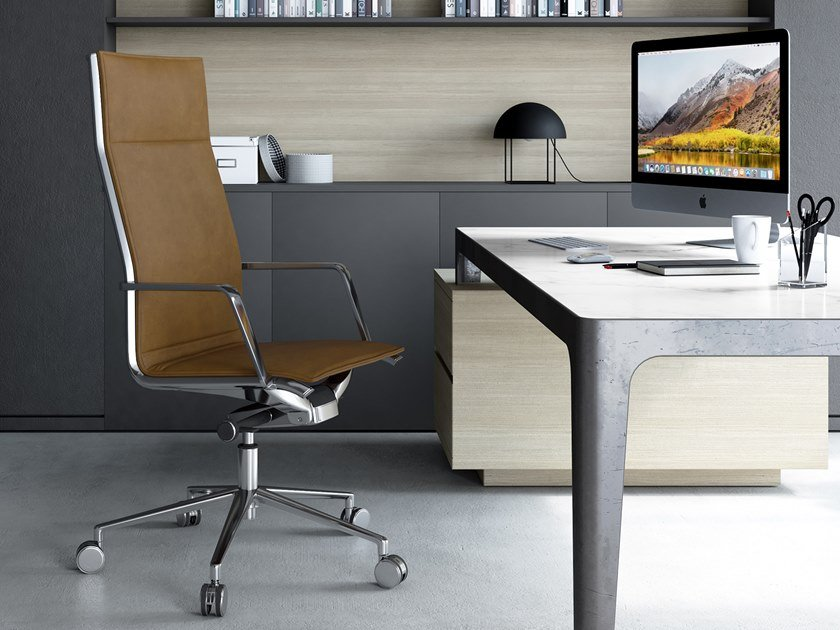 Swivel executive chair with 5-spoke base ALUMINIA | Executive chair by ESTEL GROUP