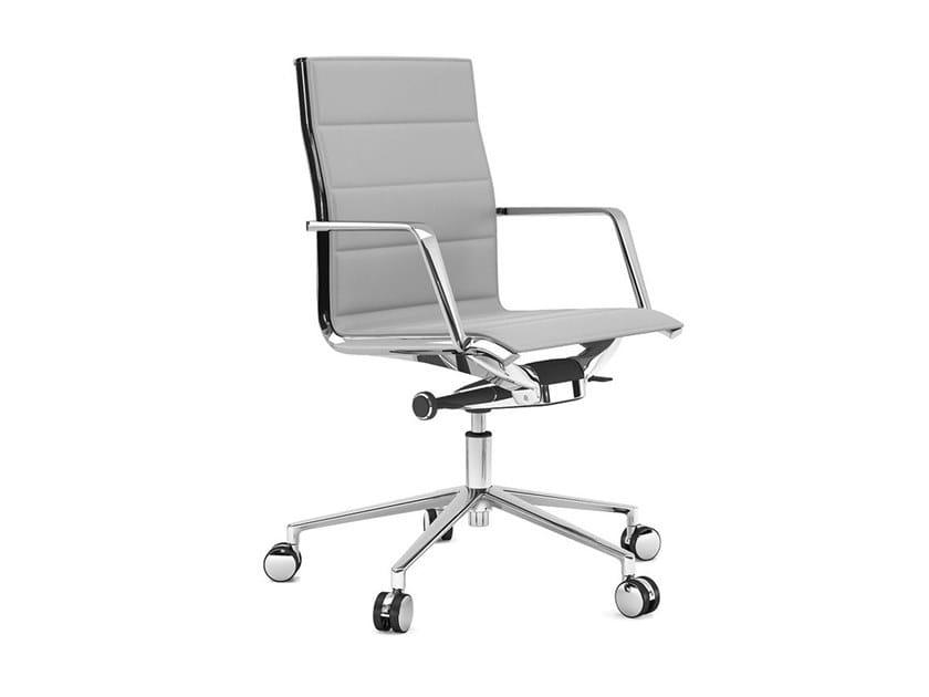 Swivel task chair with 5-Spoke base ALUMINIA | Task chair with 5-Spoke base by ESTEL GROUP
