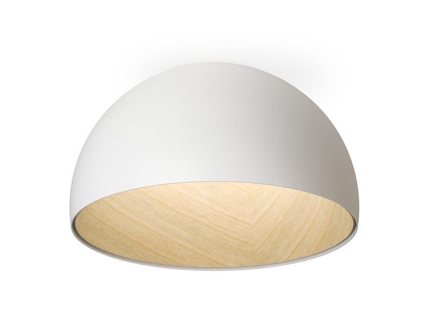 Lampada da soffitto a LED in alluminio e legno DUO | Lampada da soffitto in alluminio e legno by Vibia