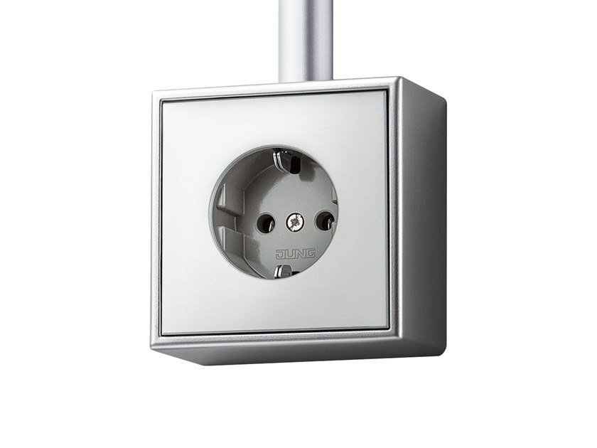 Aluminium electrical outlet LS CUBE | Aluminium electrical outlet by JUNG