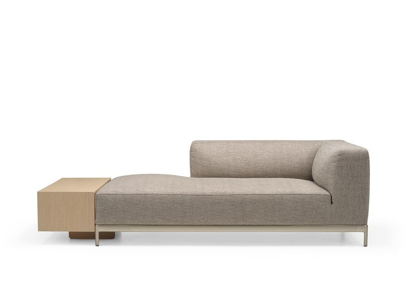 Upholstered fabric day bed ALUZEN SOFT ANGULAR - P38 / P54 by Alias