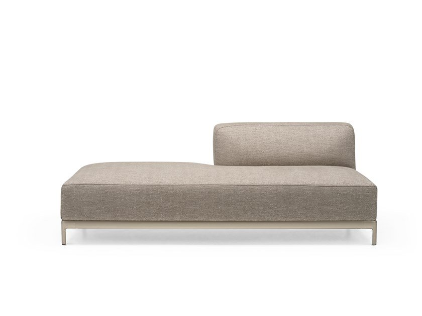 Upholstered fabric day bed ALUZEN SOFT ENDING - P41 by Alias