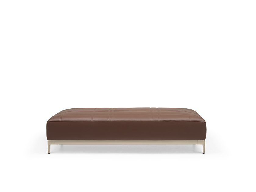 Banco tapizado de cuero ALUZEN SOFT BENCH - P52 by Alias