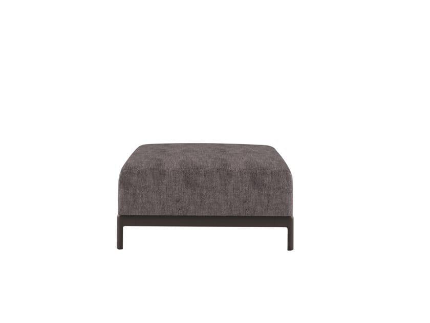 Gepolsterter rechteckige Sitzpuff aus Stoff ALUZEN SOFT POUF - P51 by Alias