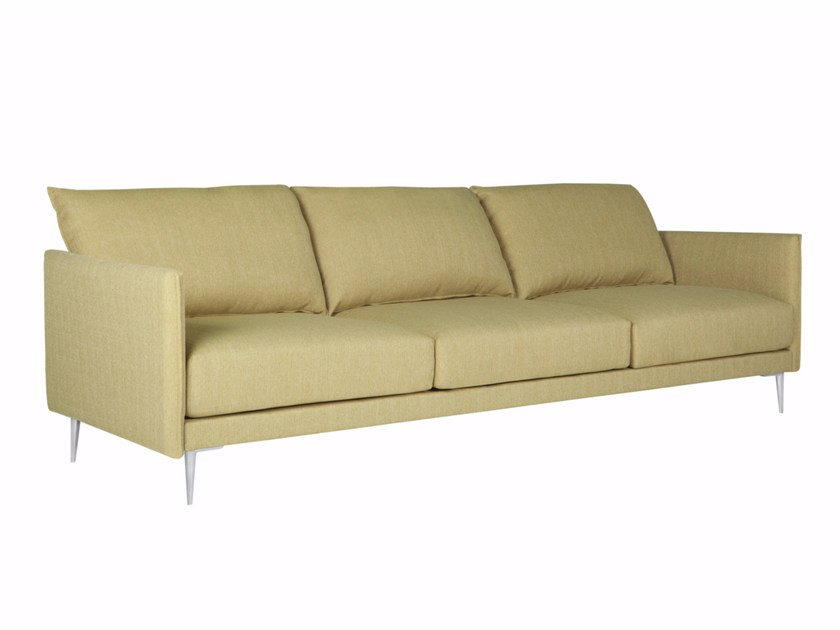 Upholstered 3 seater fabric sofa ALVA by SITS
