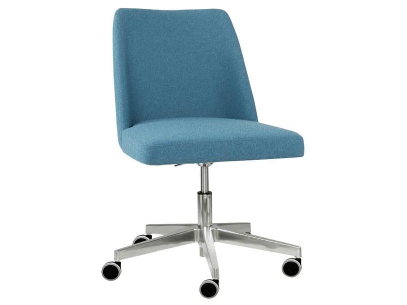 Swivel fabric task chair with 5-Spoke and aluminium base AMA SE01 BASE 23 by New Life