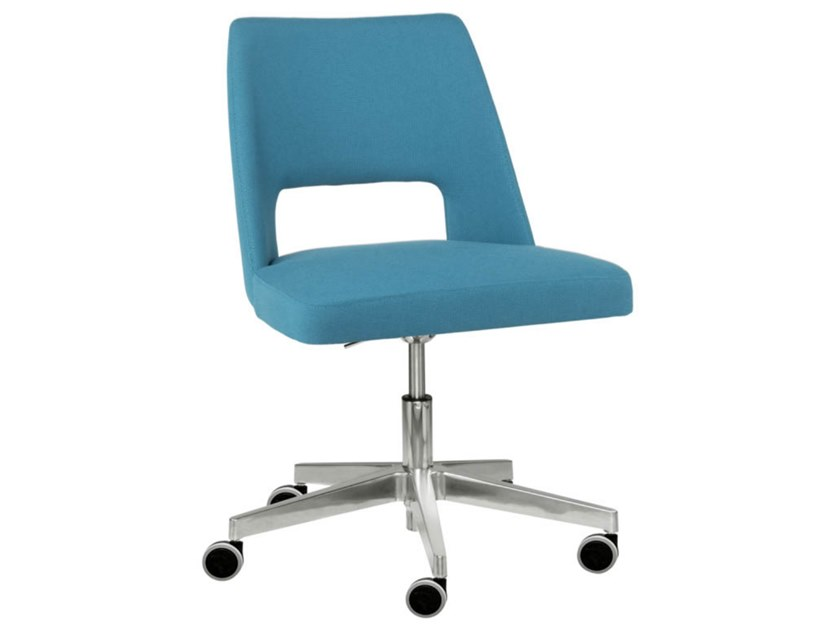 Swivel task chair with 5-Spoke base with aluminium base AMA SE02 BASE 23 by New Life