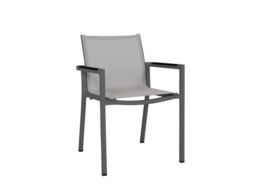 Stackable garden chair with armrests AMAKA | Chair with armrests by Les jardins