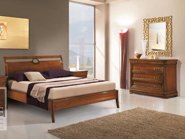 Solid wood double bed AMALFI | Solid wood bed by Arvestyle