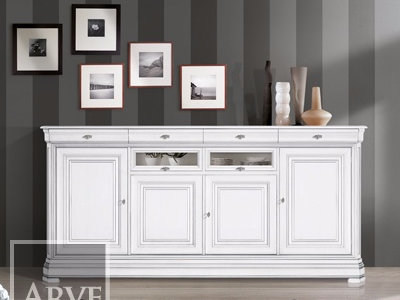 Solid wood sideboard AMALFI | Lacquered sideboard by Arvestyle