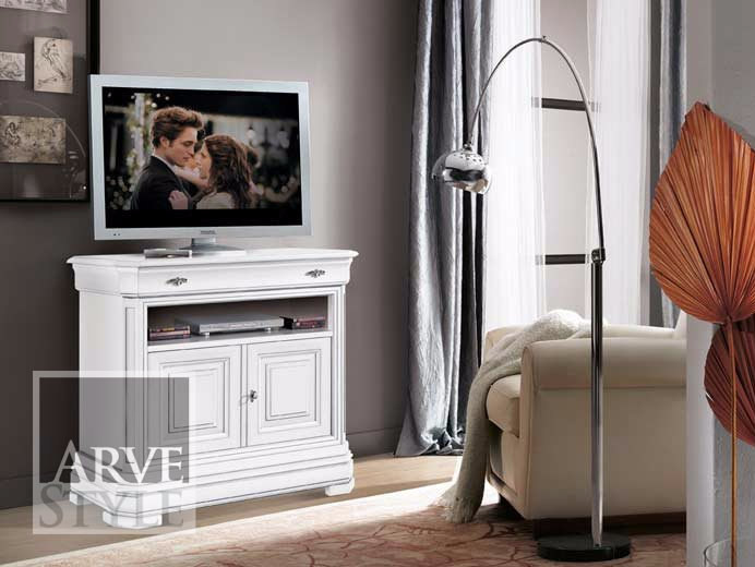 Lacquered solid wood TV cabinet AMALFI | TV cabinet by Arvestyle