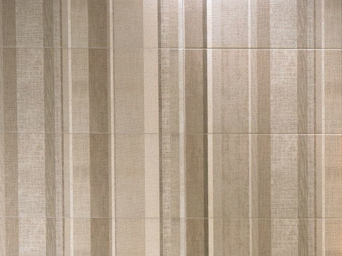 Indoor white paste wall tiles amande raye couture collection by