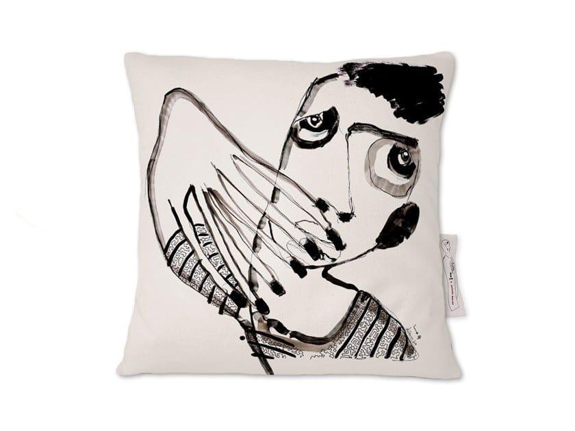 Square linen cushion AMARCORD I by Kiasmo