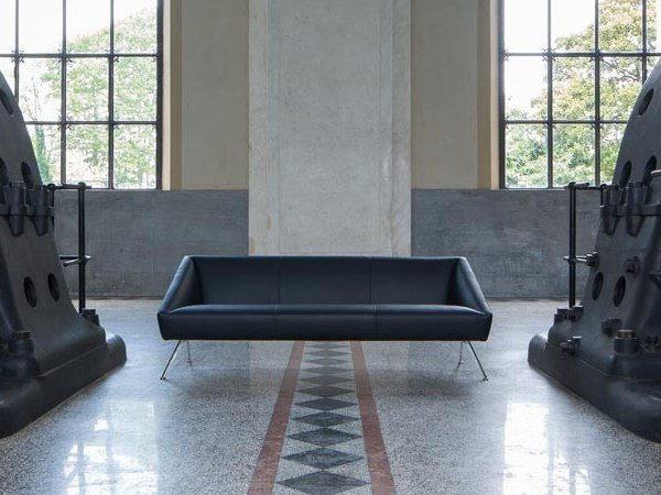 3 seater leather sofa AMARCORD | Leather sofa by Luxy