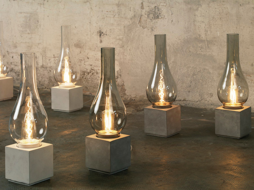 Cement table lamp / floor lamp AMARCORD | Table lamp by Karman