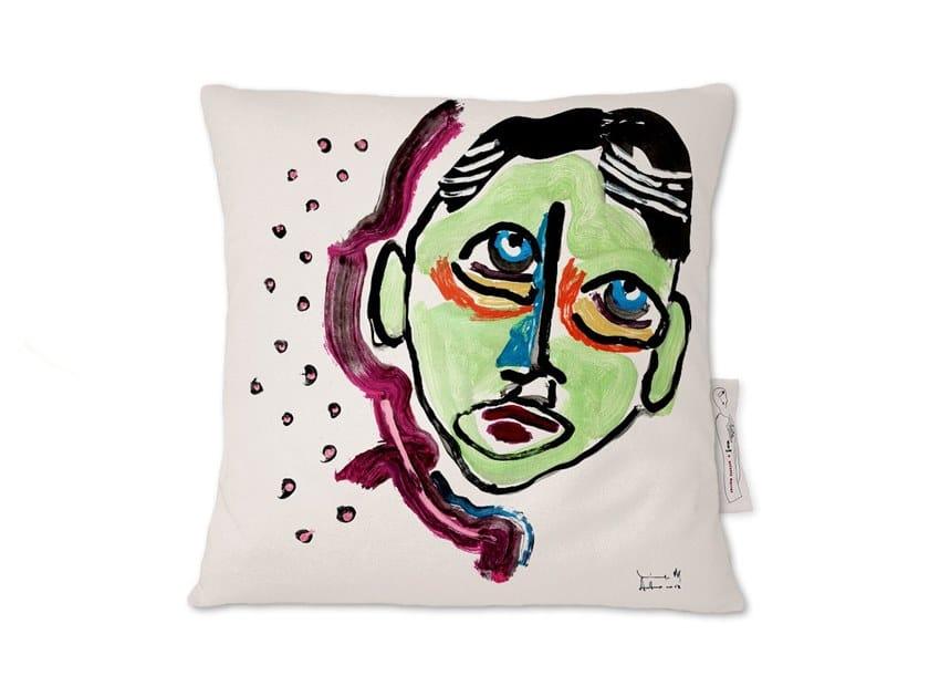 Square linen cushion AMARCORD VIII by Kiasmo