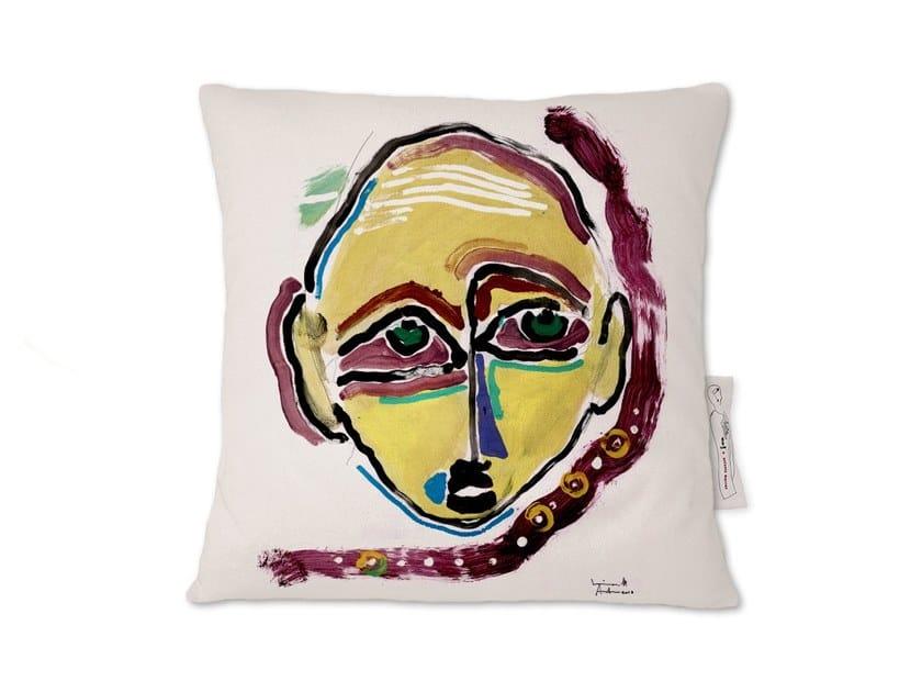 Square linen cushion AMARCORD X by Kiasmo