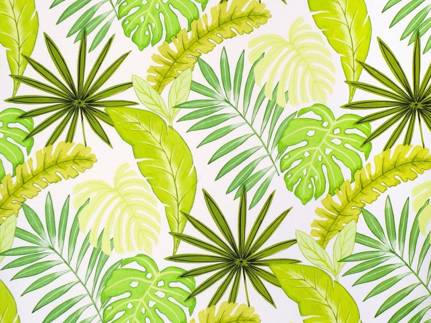 Printed linen fabric AMAZON FOREST by Aldeco