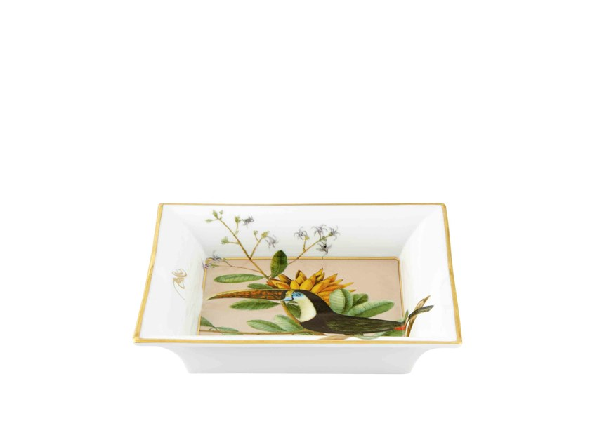 Square porcelain tray AMAZÓNIA | Square tray by Vista Alegre