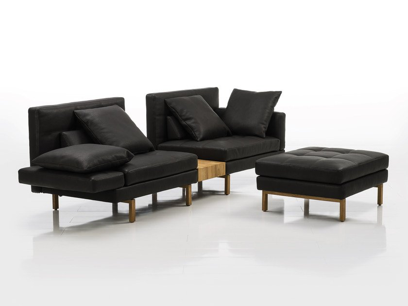 Sectional leather sofa AMBER | Leather sofa by brühl