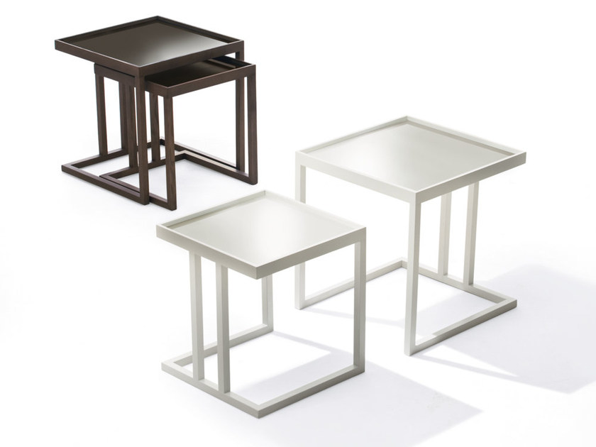 Low solid wood coffee table AMBO by Pacini & Cappellini